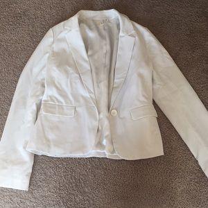 One-button white blazer by Frenchi